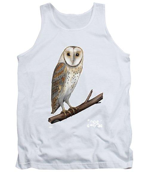 Barn Owl Screech Owl Tyto Alba - Effraie Des Clochers- Lechuza Comun- Tornuggla - Nationalpark Eifel Tank Top