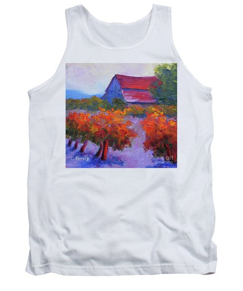 Barn Vineyard Autumn Tank Top