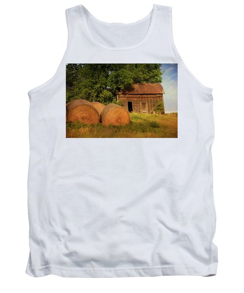 Barn With Haybales Tank Top