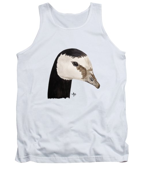 Barnacle Goose Portrait Tank Top by Angeles M Pomata