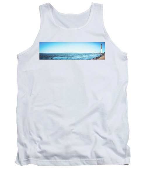 Tank Top featuring the photograph Barnegat Light Panorama by Colleen Kammerer