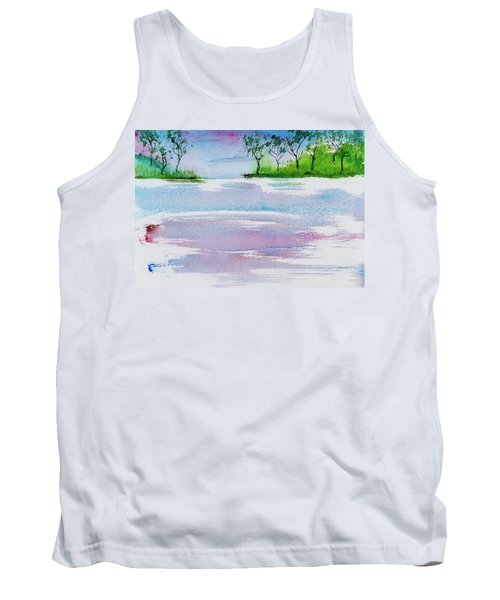Gum Trees Frame The Sunset At Barnes Bay Tank Top