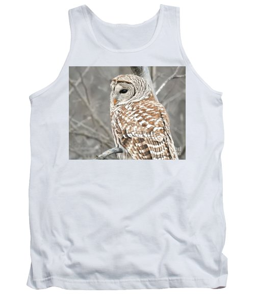 Barred Owl Close-up Tank Top by Kathy M Krause