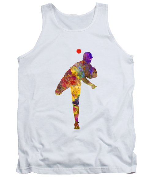 Baseball Player Throwing A Ball Tank Top by Pablo Romero