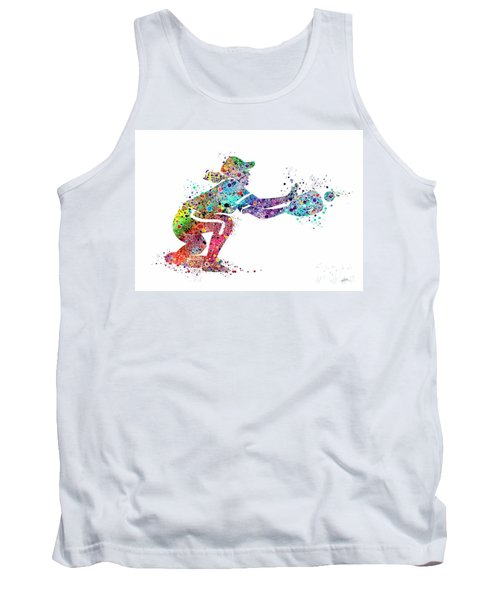 Baseball Softball Catcher 2 Sports Art Print Tank Top