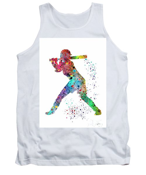 Baseball Softball Player Tank Top by Svetla Tancheva