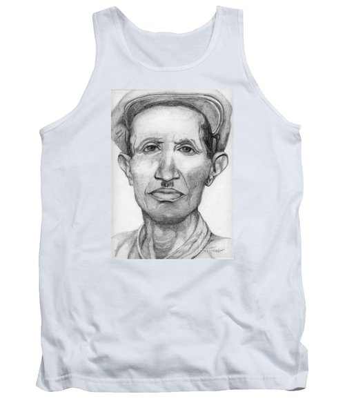 Tank Top featuring the drawing Bashi by Annemeet Hasidi- van der Leij