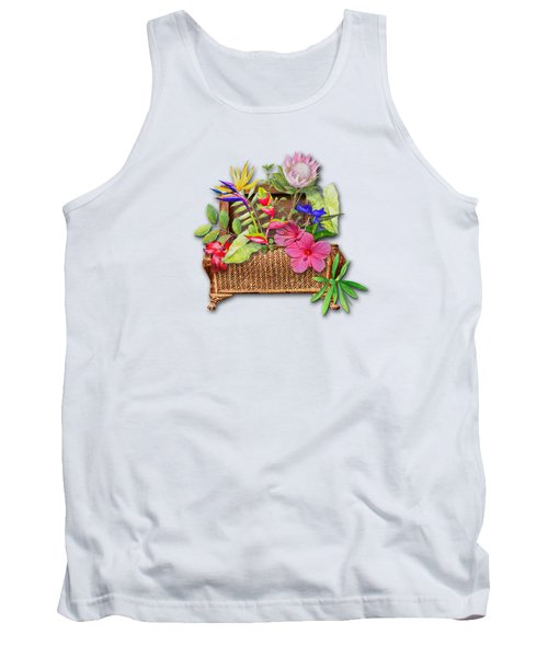 Basket Of Tropicals Tank Top by Larry Bishop