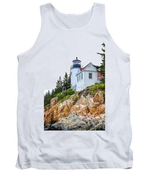 Bass Harbor Head Lighthouse 1 Tank Top by John McArthur