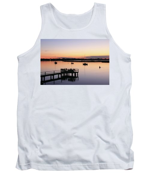 Bass River Before Sunrise Tank Top by Roupen  Baker