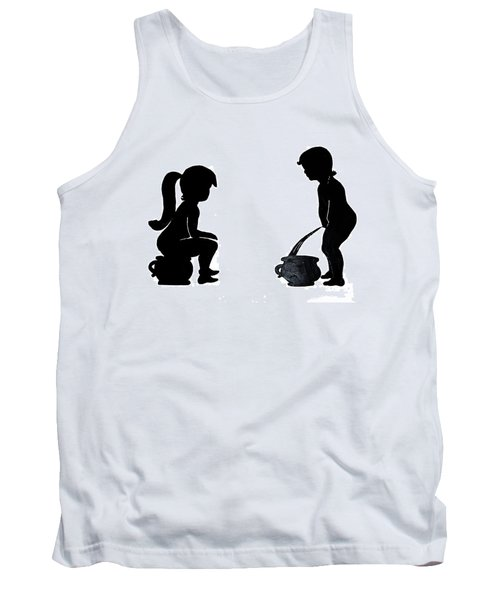 Bathroom Silhouettes Tank Top