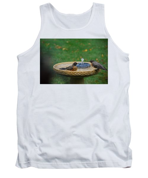 Bathtime In The Front Yard Tank Top