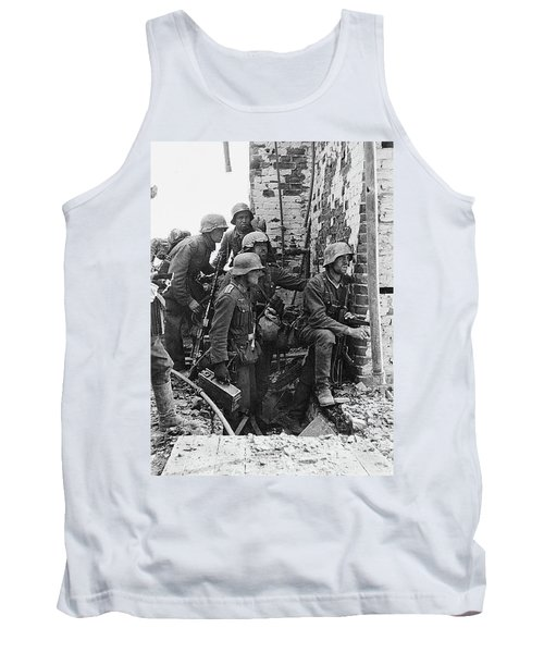 Battle Of Stalingrad  Nazi Infantry Street Fighting 1942 Tank Top