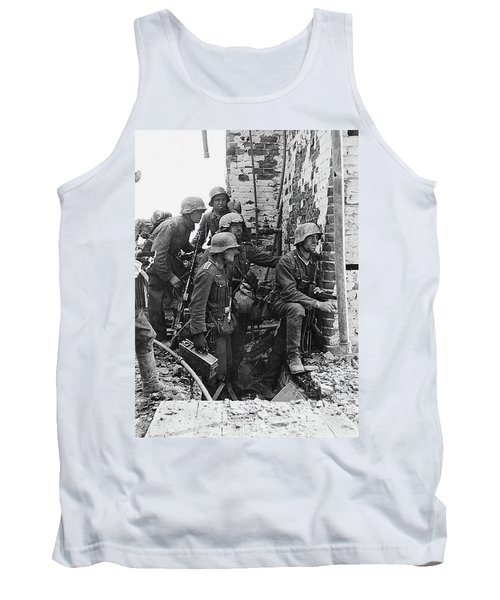 Battle Of Stalingrad  Nazi Infantry Street Fighting 1942 Tank Top