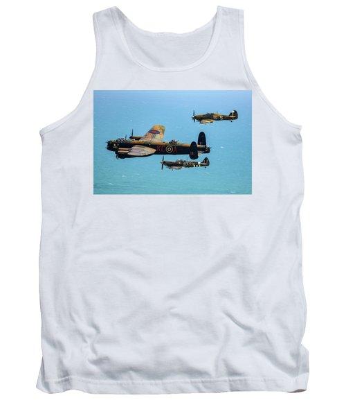 Bbmf Eastbourne Beachy Head Flypast Tank Top by Ken Brannen
