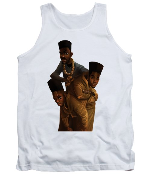 Tank Top featuring the drawing Bdk White Bg by Nelson Dedos Garcia