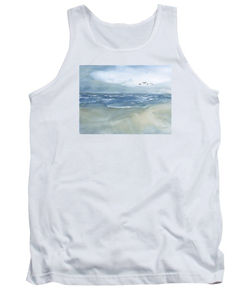 Beach Blue Tank Top by Frank Bright