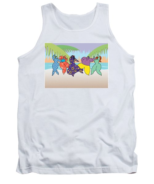 Beach Dancers Tank Top by Steve Ellis
