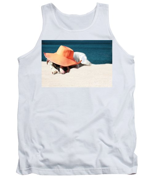 Tank Top featuring the photograph Beach Day For Bubba by Shelley Neff
