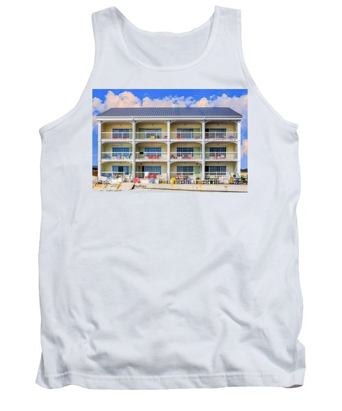 Beach Front Hotel Tank Top