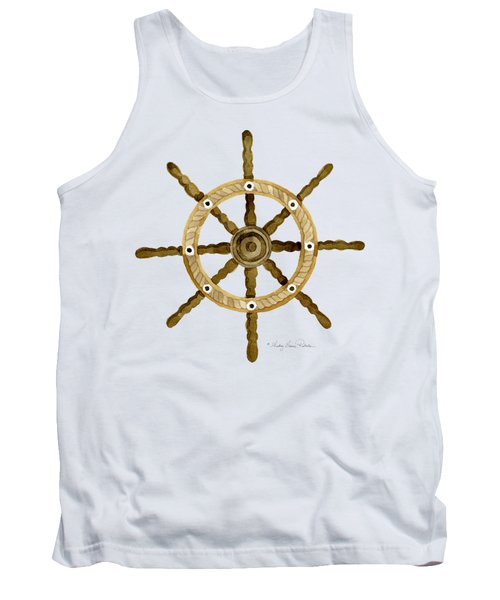 Beach House Nautical Boat Ship Anchor Vintage Tank Top by Audrey Jeanne Roberts