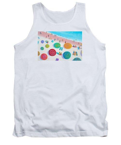 Beach Painting - A Walk In The Sun Tank Top