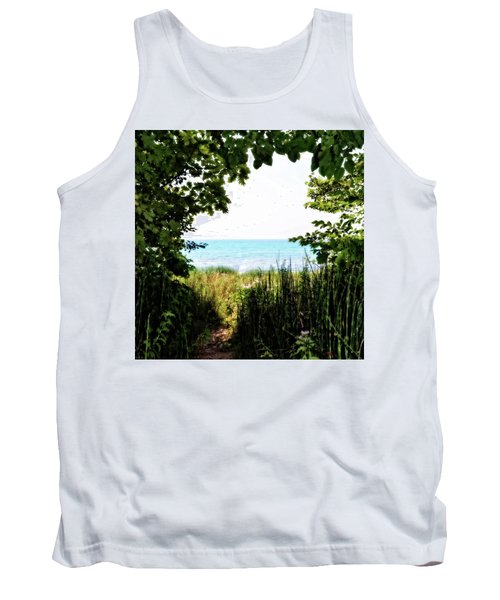 Tank Top featuring the photograph Beach Path With Snake Grass by Michelle Calkins