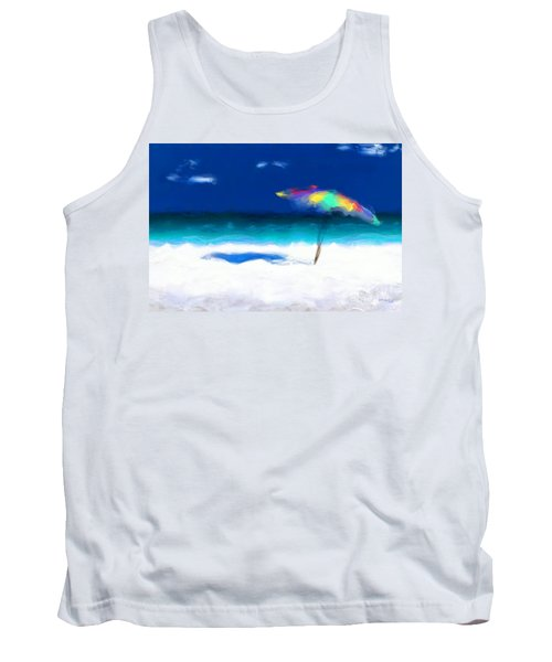 Beach Scene 4. Modern Decor Collection Tank Top by Mark Lawrence