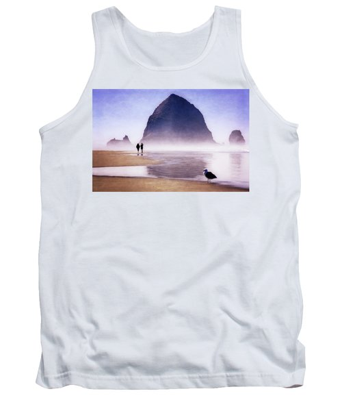 Tank Top featuring the photograph Beach Walk by Scott Kemper