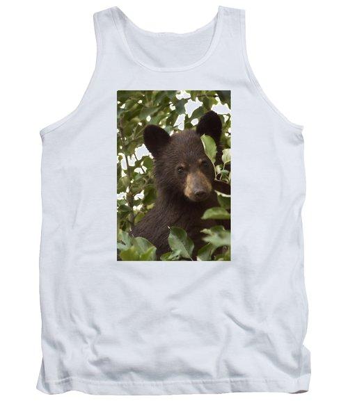 Bear Cub In Apple Tree7 Tank Top by Loni Collins