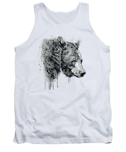 Bear Head Black And White Tank Top