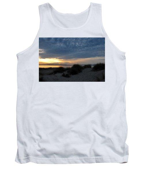 Beautiful Beach San Dunes Sunset And Clouds Tank Top
