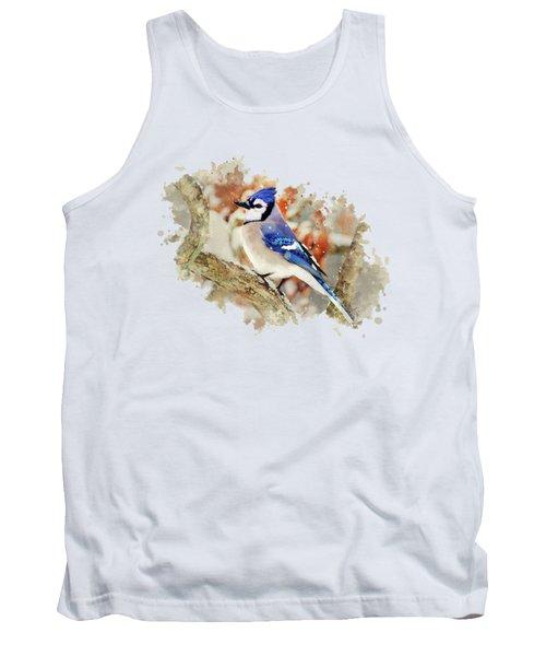 Beautiful Blue Jay - Watercolor Art Tank Top