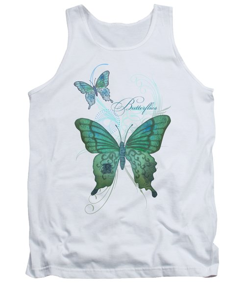 Beautiful Butterflies N Swirls Modern Style Tank Top
