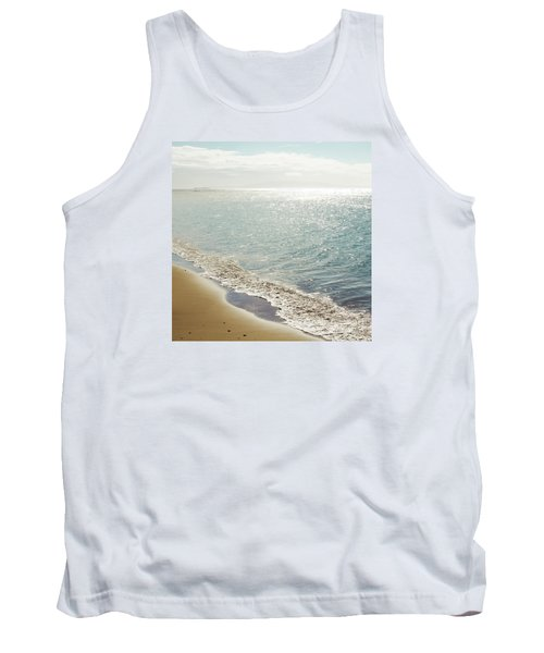 Tank Top featuring the photograph Beauty And The Beach by Sharon Mau