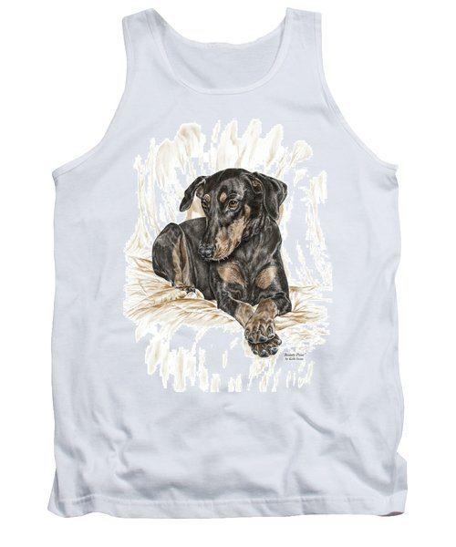 Beauty Pose - Doberman Pinscher Dog With Natural Ears Tank Top