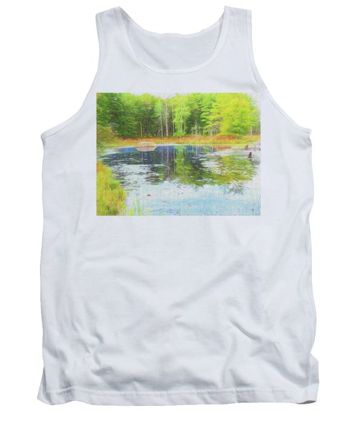 Beaver Pond Reflections Tank Top