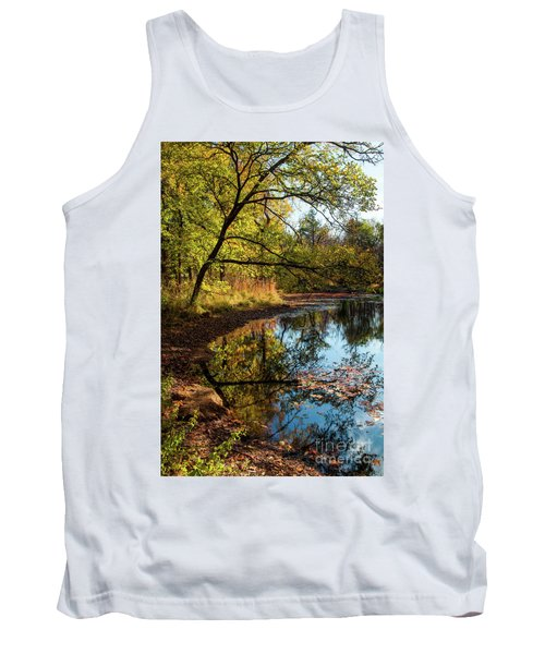 Tank Top featuring the photograph Beaver's Pond by Iris Greenwell