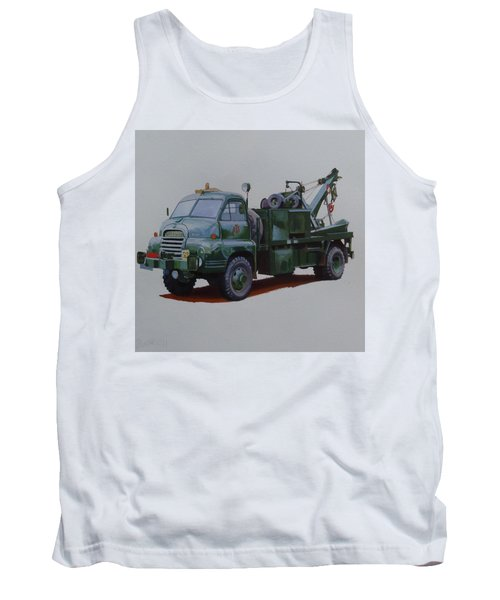Tank Top featuring the painting Bedford Wrecker Afs by Mike Jeffries