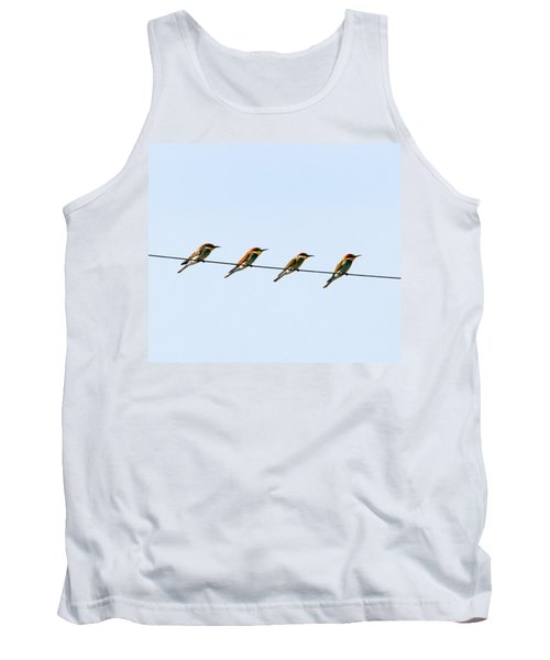 Bee Eaters On A Witre  Tank Top