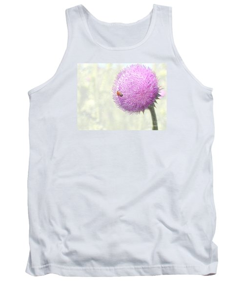 Bee On Giant Thistle Tank Top