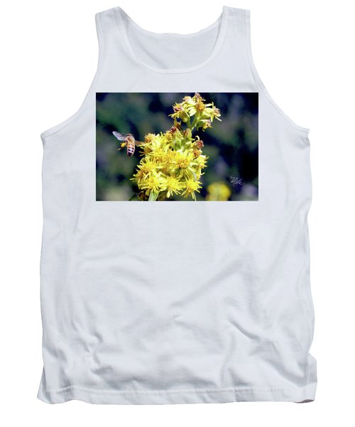 Tank Top featuring the photograph Bee On Goldenrod by Meta Gatschenberger