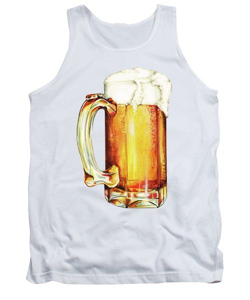 Beer Pattern Tank Top by Kelly Gilleran