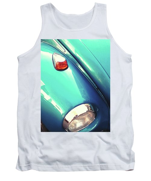 Tank Top featuring the photograph Beetle Blue by Rebecca Harman