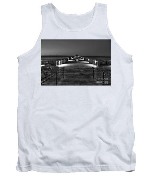Tank Top featuring the photograph Before Dawn Folly Beach Pier Charleston Sc Art by Reid Callaway