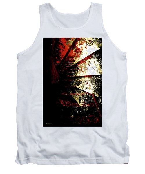 Tank Top featuring the photograph Before You Go Upstairs by Danica Radman