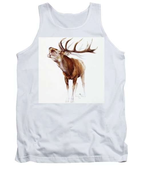 Belling Stag Watercolor Tank Top