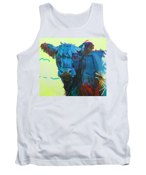 Belted Galloway Cow On Dartmoor Tank Top