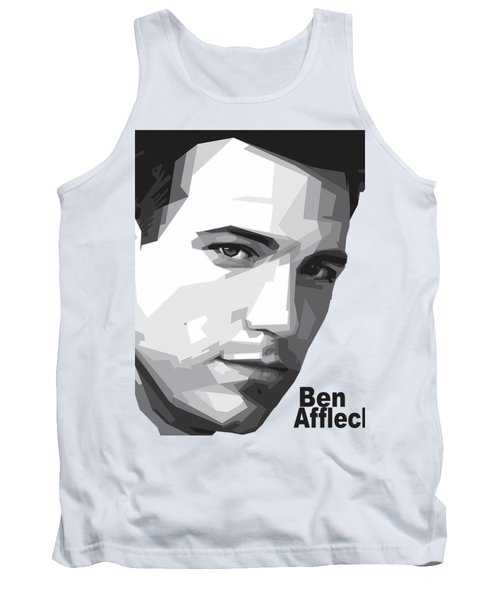 Ben Affleck Portrait Art Tank Top by Madiaz Roby