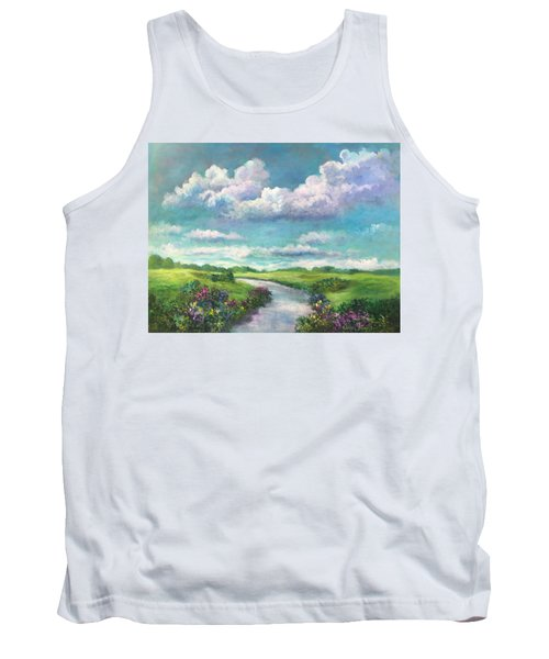 Beneath The Clouds Of Paradise Tank Top by Randy Burns